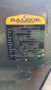 10 Hp 3 phase Electric Motor Baldor