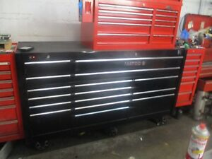 Matco 4s Triple Bank Bay Power Supply Usb Work Top Rollaway Toolbox 16 Drawer