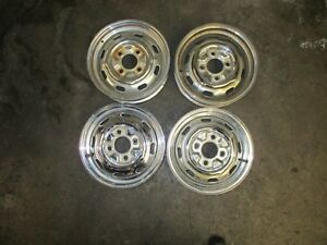 Porsche 914 4 1970 1976 Chrome Steel Used Wheels 15 X 4 5 Set Of Four