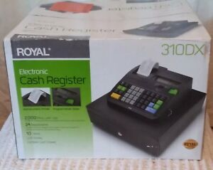 Royal Electronic Cash Register 310 Dx 24 Depts Lcd Cash Drawer Brand New