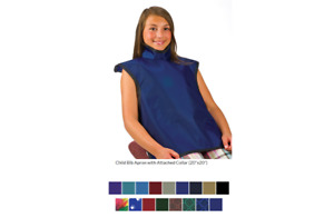 Flow Lead X ray Apron 20 x20 5 0 3mm Child s W Collar Burgundy Ea