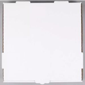 50 pack 12 X 12 X 1 3 4 White Corrugated Plain Pizza Bakery Box b1a