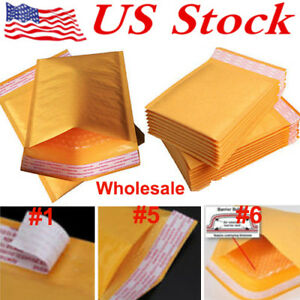 Kraft Bubble Mailers Padded Envelopes Self seal Protective Packaging Bubble Lot