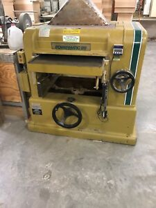 Powermatic 225 Planer 20 Hp 3 Ph 240v Bryd Spiral Head Digital Read Out