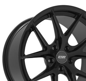 Esr Rf2 18x9 30 18x10 25 5x120 Matte Black Rotory Forged Staggered Set Of 4