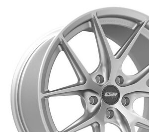 Esr Rf2 18x9 30 5x100 Hyper Silver Rotory Forged Set Of 4