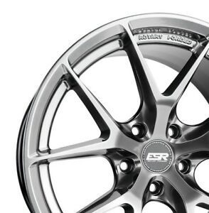 Esr Rf2 18x9 30 5x100 Hyper Black Rotory Forged Set Of 4