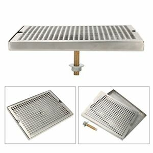 12 Surface Mount Kegerator Beer Drip Tray Stainless Steel Tower No Drain