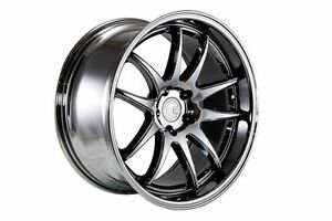 18x9 5 18x10 5 Aodhan Ds2 5x114 3 22 Black Vacuum Rims Fits Gs300 400 G35 Rx7