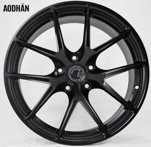 19x9 5 15 Aodhan Ls007 5x114 3 Black Wheels Fit Nissan 350z 370z Nismo 5x4 5