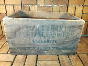 Antique Early Century Royal Baking Powder Box Crate Old Graphics Original