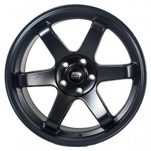 Mst Mt01 18x8 5 35 5x100 Matte Black Concave Set Of 4