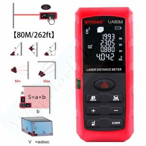 80m 262ft Handheld Laser Distance Meter Rangefinder Measuring Area Volume Ua80m