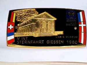 German Adac Car Badge 1980 Giessen