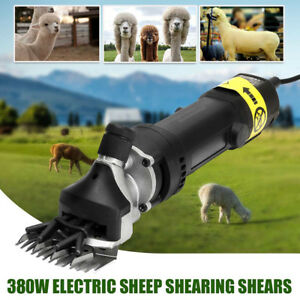 380w Electric Sheep Goat Shears Clippers Animal Shave 2600rpm Compact Aluminum