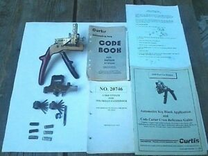Tan Curtis Model 15 Code Cutter Datsun nissan Manuals Cams Carriages Books