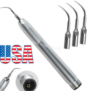 Dental Hygienist Piezo Ultrasonic Air Scaler Handpiece 2 Hole With 3tips Fit Ems