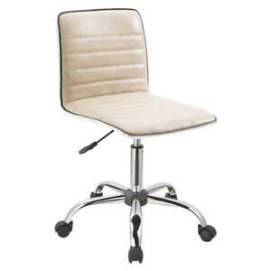 Home Office Task Chair Armless Executive Computer Desk Receptionist Modern Chair
