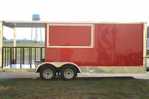 8 5x20 8 5 X 20 Enclosed Concession Food Vending Bbq Trailer 6 Porch Any Color