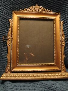 Antique Art Deco Style Gilt Wooden Easel Picture Frame Early 1900 S