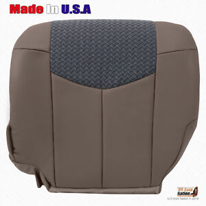 Front Driver Lower Seat Cover Tan Leather Cloth For 2002 Chevy Avalanche Truck