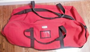Ruffian Heavy Duty Large Firefighter Turnout Gear Bag Heavy Canvas suede Red