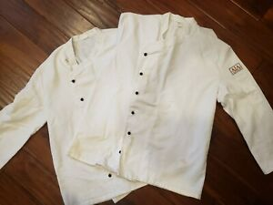 2 Angelica Chef Coat Double Breasted Removable Button Free Shipping