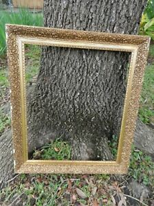 Large Antique Vintage Ornate Wood And Gesso Gold Gilt Picture Frame 20 X 24
