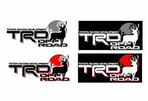 Set Of 2 Toyota Trd Tacoma Trd Deer Hunting 4x4 Off Road Decal Sticker Vinyl