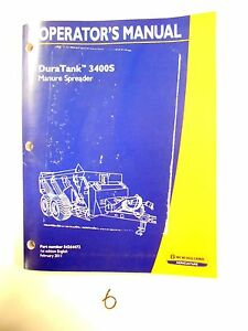 New Holland Duratank 3400s Manure Spreader Operator s Owner s Manual 2 11