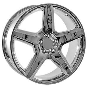 19 Inch Staggered Chrome Mercedes Benz Wheels Replica 85061 85062
