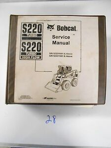 Bobcat S220 Turbo Highflow Skid Steer Loader Repair Shop Service Manual 6902447