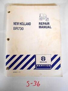 New Holland Br730 Round Baler Repair Service Manual 87034013 6 03