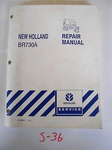 New Holland Br730a Baler Repair Service Manual 87364832