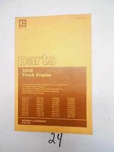 Cat Caterpillar 3208 Truck Parts Manual Catalog Engine Sebp 1308 01