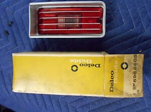 Nos Impala Caprice Belair 70 Delco Tail Light Stop Backup Lens Guide Bin33