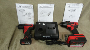 Snap on Tools 2 Impact Wrenches 2 Batterys 1 Charger Item 6142 15000