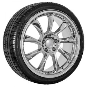 19 Inch Mercedes Chrome Replica Wheels And Tires Package Free Shipping 590