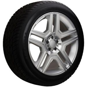 20 Inch Mercedes Benz Silver Wheel And Tire Package Ml gl Free Shipping