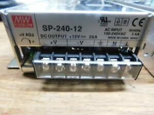 Mean Well Sp 240 12 Ac To Dc Power Supply Single Output 12v 20 Amp 240w
