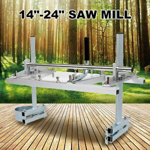 Portable Chain Saw Mill Log Planking Lumber Cutting 14 24 Chainsaw Guide Bar