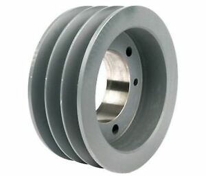6 30 Od Three Groove Pulley sheave For 5v Style V belt bushing Not Included