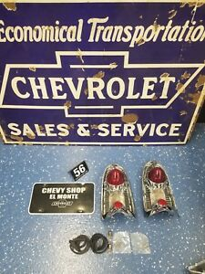 1956 Bel Air nomad Taillight Assembly pair new