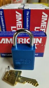 Lot Of 9 American Lock A1105blu Blue Safety Lock out