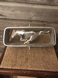 Vintage Ford Mustang Hood Ornament Grill Emblem