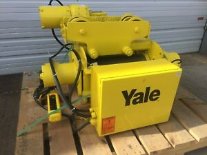 Yale Cable King 1 5 Ton Wire Rope Hoist Motorized Trolley Model Bew2 45rt14s2
