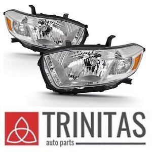New Set 2008 2009 2010 Toyota Highlander Left Right Headlights Headlamps