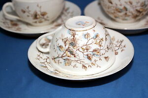 Antique Marx Gutherz Carlsbad 2557 59 Hand Painted C1890 Tea Cup Saucer Set