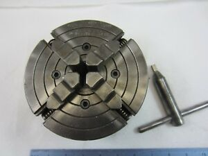 6 South Bend Lathe Works 4 Ind Jaw Lathe Chuck 1 1 2 X 8 By Skinner 4006 50
