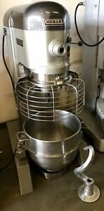 Hobart 60qt 60 Qt Dough Mixer H600 With Safety Cage 2 Hp One Phase